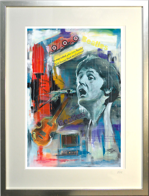 """Paul McCartney - limitierter Kunstdruck - Frank Zander"